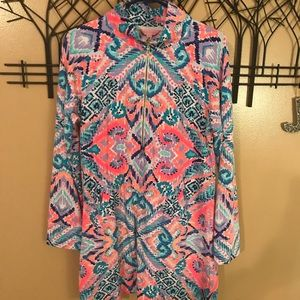 Lilly Pulitzer popover dress size large GUC
